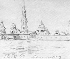 Петропавловская крепость рисунки карандашом для
